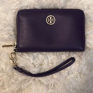 Tory Burch Wallet Wristlet with Gold Hardware